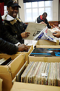 The Last Black Music Record Fair, Kilburn, London, UK. January 2009