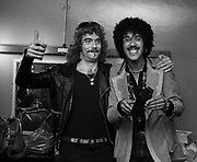 Thin Lizzy -  Huey Lewis and Phil Lynott backstage London 1978