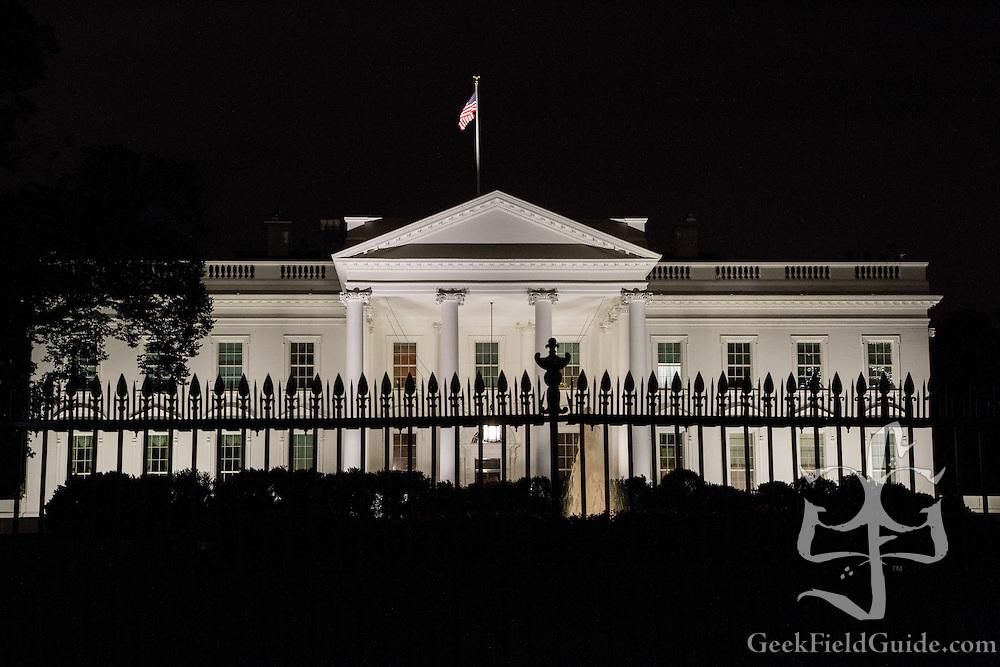 The White House at night. Washington, D.C.