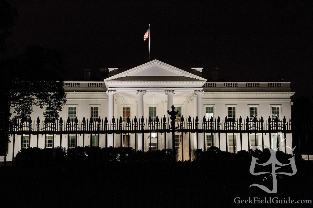 The White House at night. Washington, D.C.
