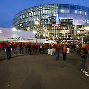 Sprint Center Arena in downtown Kansas City, Missouri during the 2015 NCAA Big 12 Basketball Tournament