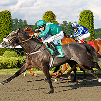 Fast Finian and Jim Crowley winning the 7.10 race