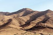 AOULOUZ, MOROCCO May 21st 2016 - Arid Anti Atlas mountain terrain near Aoulouz, Taliouine & Taroudant Province, Souss Massa Draa region of Southern.