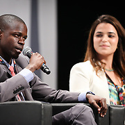 03 June 2015 - Belgium - Brussels - European Development Days - EDD - Special Event - A more connected , contested and complex world is in your hands - A conversation with Federica Mogherini and Sam Kutesa - Nada Diouri , Birwe Habmo , Future Leaders © European Union