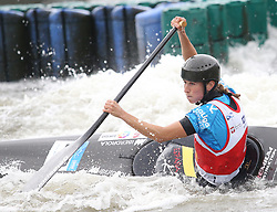 July 1, 2018 - Krakow, Poland - 2018 ICF Canoe Slalom World Cup 2 in Krakow. Day 2. On the picture: NURIA VILARRUBLA (Credit Image: © Damian Klamka via ZUMA Wire)