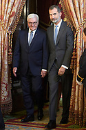 King Felipe VI of Spain, Frank-Walter Steinmeier attend an official lunch at Palacio Real on October 24, 2018 in Madrid, Spain