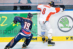 Martin Vozdecky of Czech Republic vs Kyle Kreamer of USA at IIHF In-Line Hockey World Championships 2011 Top Division Gold medal game between National teams of Czech republic and USA on June 25, 2011, in Pardubice, Czech Republic. (Photo by Matic Klansek Velej / Sportida)