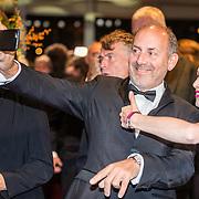 NLD/Amsterdam/20161013 - Televiziergala 2016, Robin de Levita en Sigrid ten Napel