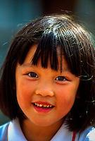 Chinese girl at Kowloon Park, Hong Kong, China