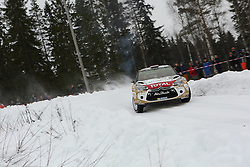15.02.2015,  Karlstad, SWE, FIA, WRC, Schweden Rallye, im Bild Mads Ostberg/Jonas Andersson (Citroen Total Abu Dhabi WRT/DS3 WRC) // during the WRC Sweden Rallye at the Karlstad in Karlstad, Sweden on 2015/02/15. EXPA Pictures © 2015, PhotoCredit: EXPA/ Eibner-Pressefoto/ Bermel<br /> <br /> *****ATTENTION - OUT of GER*****