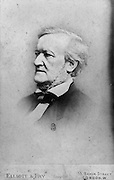 Richard Wagner, 1813-83, German composer, conductor and writer of operas, during his stay in London, England, May-June 1877, photograph by Elliott and Fry. Copyright © Collection Particuliere Tropmi / Manuel Cohen