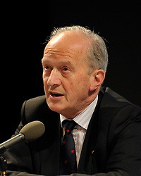 """© Licensed to London News Pictures. File Picture:16 March 2012; Bristol, UK; File picture of Lord Hunt at the Bristol Branch of the National Union of Journalists annual Benn Debate with the title """"Hacked to bits; Restoring public trust in journalism"""" at the Arnolfini gallery in Bristol. The debate centred on phone hacking, the Leveson inquiry, and trust and regulation of the press. The speakers were Lord Hunt, Christopher Jefferies, Richard Peppiatt, Thais Portilho-Shrimpton, Steve Brodie from BBC Bristol, Mike Norton editor of the Bristol Post.  The event was chaired by Donnacha Delong, President of the National Union of Journalists. 16 March 2012..Photo credit : Simon Chapman/LNP"""