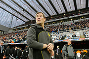 Burton Albion manager Nigel Clough during the EFL Sky Bet Championship match between Newcastle United and Burton Albion at St. James's Park, Newcastle, England on 5 April 2017. Photo by Richard Holmes.