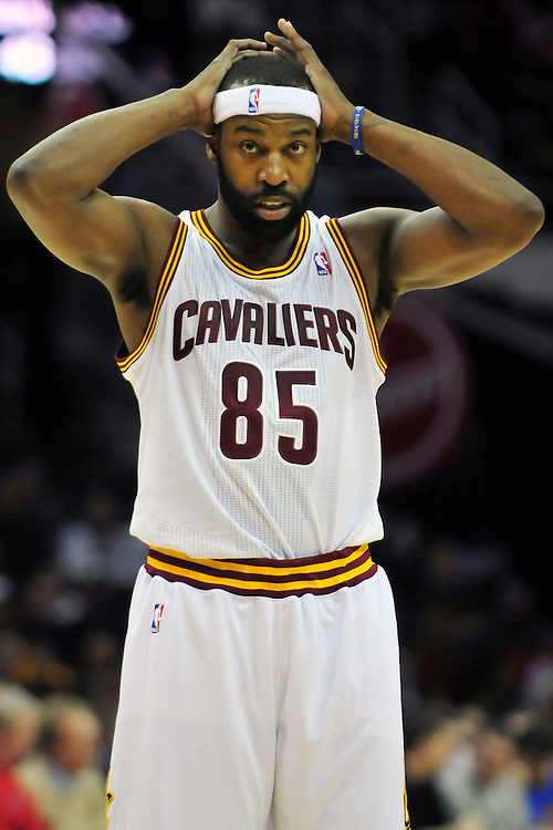 March 6, 2011; Cleveland, OH, USA; Cleveland Cavaliers point guard Baron Davis (85) during the second quarter against the New Orleans Hornets at Quicken Loans Arena. Mandatory Credit: Jason Miller-US PRESSWIRE