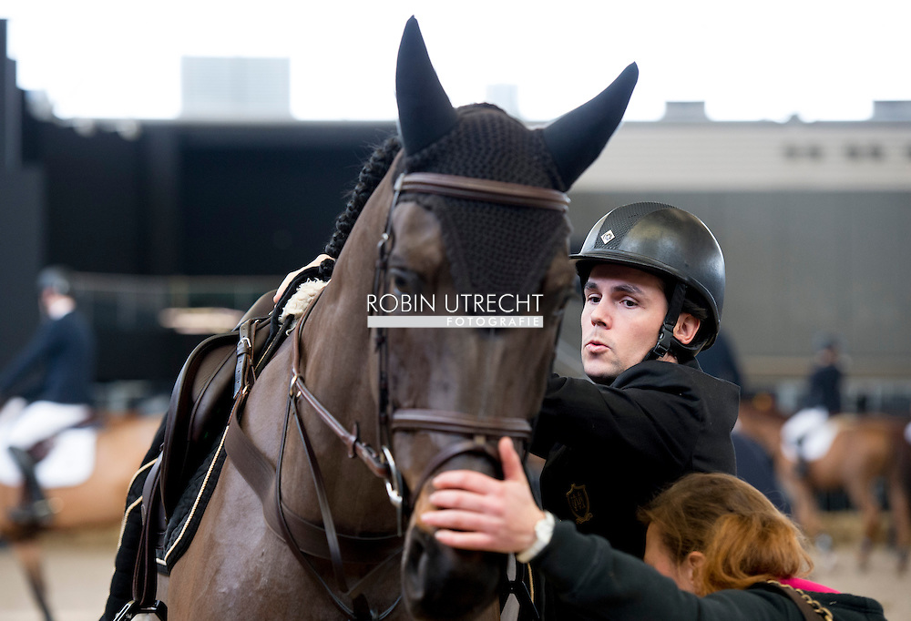 1-2-2015  AMSTERDAM - Sergio Alvarez and Marta Ortega in the Amsterdam Rai in the netherlands COPYRIGHT ROBIN UTRECHT