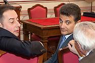 Rionero in V. (PZ) 03/10/2009 Italy - Il Presidente della Repubblica Giorgio Napolitano in visita nella casa natale di Giustino Fortunato. Nella Foto: Gianni Pittella e Vito De Filippo