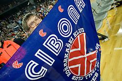 Fan of Cibona at second semifinal match of League NLB Final Four tournament  between KK Cibona Zagreb and KK Union Olimpija Ljubljana, on April 23, 2010, in Arena Zagreb, Zagreb, Croatia. (Photo by Vid Ponikvar / Sportida)