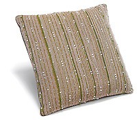 beaded olive green pillow
