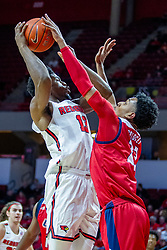 NORMAL, IL - December 18: Braelen Bridges defends Rey Idowu during a college basketball game between the ISU Redbirds and the UIC Flames on December 18 2019 at Redbird Arena in Normal, IL. (Photo by Alan Look)