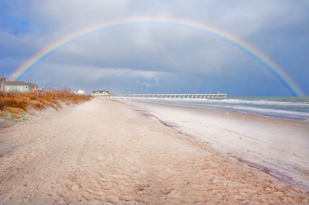 Rainbow over Mercers Pier, Wrightsville Beach, NC