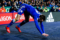 Jamie Vardy of Leicester City falls over - Mandatory by-line: Robbie Stephenson/JMP - 26/02/2019 - FOOTBALL - King Power Stadium - Leicester, England - Leicester City v Brighton and Hove Albion - Premier League