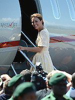 The Duke and Duchess of Cambridge depart from Honiara Airport, Solomon Islands for Tuvalu and the final stop on their Diamond Jubilee Tour of South East Asia, on the 16th September 2012<br />