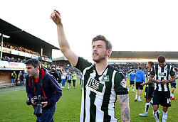 Graham Carey of Plymouth Argyle celebrates his side reaching the League Two Playoff Final - Mandatory by-line: Robbie Stephenson/JMP - 15/05/2016 - FOOTBALL - Home Park - Plymouth, England - Plymouth Argyle v Portsmouth - Sky Bet League Two play-off semi-final second leg