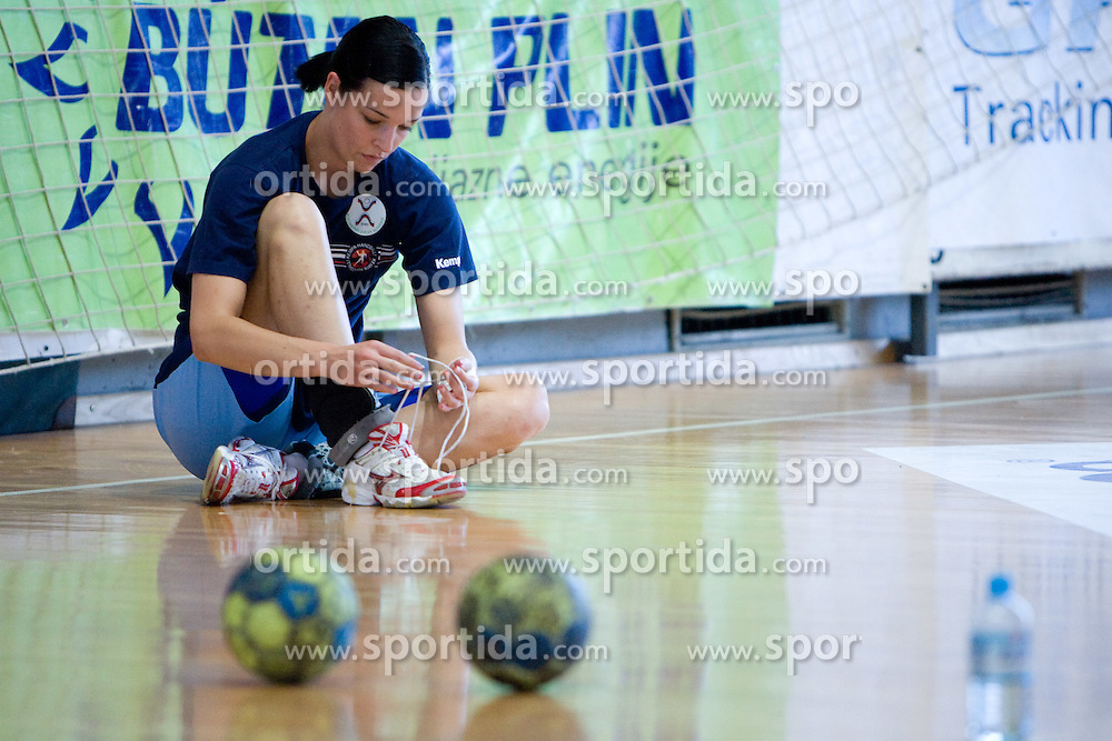 Anja Argenti at practice of Slovenian Handball Women National Team, on June 3, 2009, in Arena Kodeljevo, Ljubljana, Slovenia. (Photo by Vid Ponikvar / Sportida)