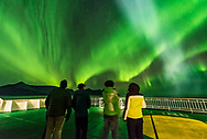 Watching the Northern Lights from the deck of the m/s Nordlys on October 24, 2017 from the coast of Norway. <br /> <br /> This is a single exposure of 1 second with the 14mm Sigma Art lens at f/1.8 and Nikon D750 at ISO 6400.