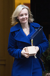 Downing Street, London, December 13th 2016. Justice Secretary and Lord Chancellor Liz Truss leaves the weekly meeting of the cabinet at Downing Street, London.