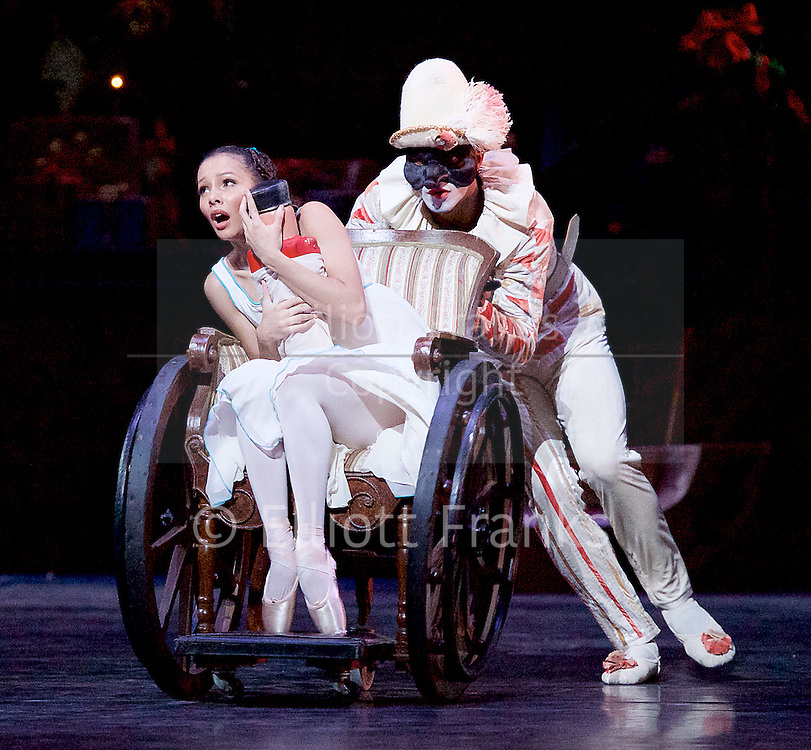 The Nutcracker<br /> <br /> Choreography by Peter Wright after Lev Ivanov<br /> Music by Tchaikovsky<br /> <br /> The Royal Ballet at the Royal Opera House, Covent Garden, London, Great Britain <br /> <br /> Pre-General Rehearsal <br /> <br /> 7 December 2015 <br /> <br /> <br /> Francesca Hayward as Clara  <br /> <br /> <br /> <br /> <br /> <br /> Photograph by Elliott Franks <br /> Image licensed to Elliott Franks Photography Services