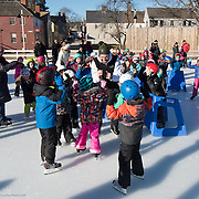 Taken at a first grader skate event with members of Ice Dance International, at Strawbery Banke in Portsmouth, NH, Jan 2017
