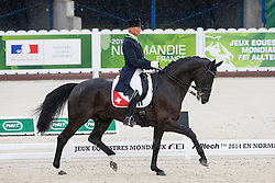 Hans Staub, (SUI), Warbeau - Grand Prix Team Competition Dressage - Alltech FEI World Equestrian Games™ 2014 - Normandy, France.<br /> © Hippo Foto Team - Leanjo de Koster<br /> 25/06/14