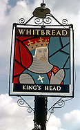 Pub Signs, The Kings Head, Wateringbury, Kent, Britain