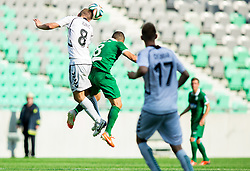 Tomislav Juric of Krka vs Darijan Matic #8 of Olimpija during football match between NK Olimpija and NK Krka in Round 1 of Prva liga Telekom Slovenije 2014/15, on July 19, 2014 in SRC Stozice, Ljubljana, Slovenia. Photo by Vid Ponikvar / Sportida.com