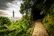 Taipei is surrounded by dozens of excellent hiking trails. This one, on Elephant Mountain, part of the Four Beasts Hiking Trails, is lit 24 hours.