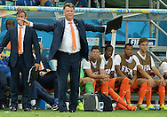 Louis van Gaal head coach  of Netherlands during the 2014 FIFA World Cup match at the Itaipava Arena Fonte Nova, Nazare, Bahia<br /> Picture by Stefano Gnech/Focus Images Ltd +39 333 1641678<br /> 05/07/2014