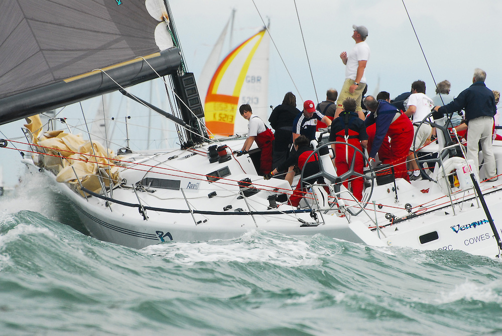 Farr 60 racing yacht at Cowes Week 2009