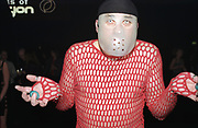 A man wearing a see through top and transparent mask with air holes, Passion, Emporium, Milton Keynes, UK, 2002