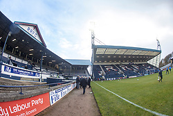 Main Stand and South Stand at Stark's Park, the home ground of Scottish football team, Raith Rovers F.C.