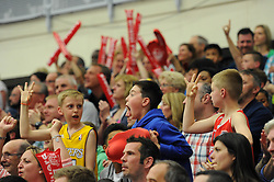 Bristol Flyers fans - Photo mandatory by-line: Dougie Allward/JMP - Mobile: 07966 386802 - 18/04/2015 - SPORT - Basketball - Bristol - SGS Wise Campus - Bristol Flyers v Leeds Force - British Basketball League