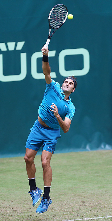 June 19, 2018 - Halle, Westphalia, Allemagne - Germany, Halle, Westphalia, Tennis, Gerry Weber Open 2018...Swiss player Roger Federer  (Credit Image: © Panoramic via ZUMA Press)
