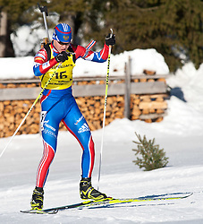 12.12.2010, Biathlonzentrum, Obertilliach, AUT, Biathlon Austriacup, Verfolgung Men, im Bild Evgeny Petrov (RUS, #15). EXPA Pictures © 2010, PhotoCredit: EXPA/ J. Groder
