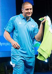 Matija Kranjc during presentation of Slovenian Olympic and Paralympic team for London 2012, on July 6, 2012 in Ljubljana's Castle, Ljubljana, Slovenia.  (Photo by Vid Ponikvar / Sportida.com)