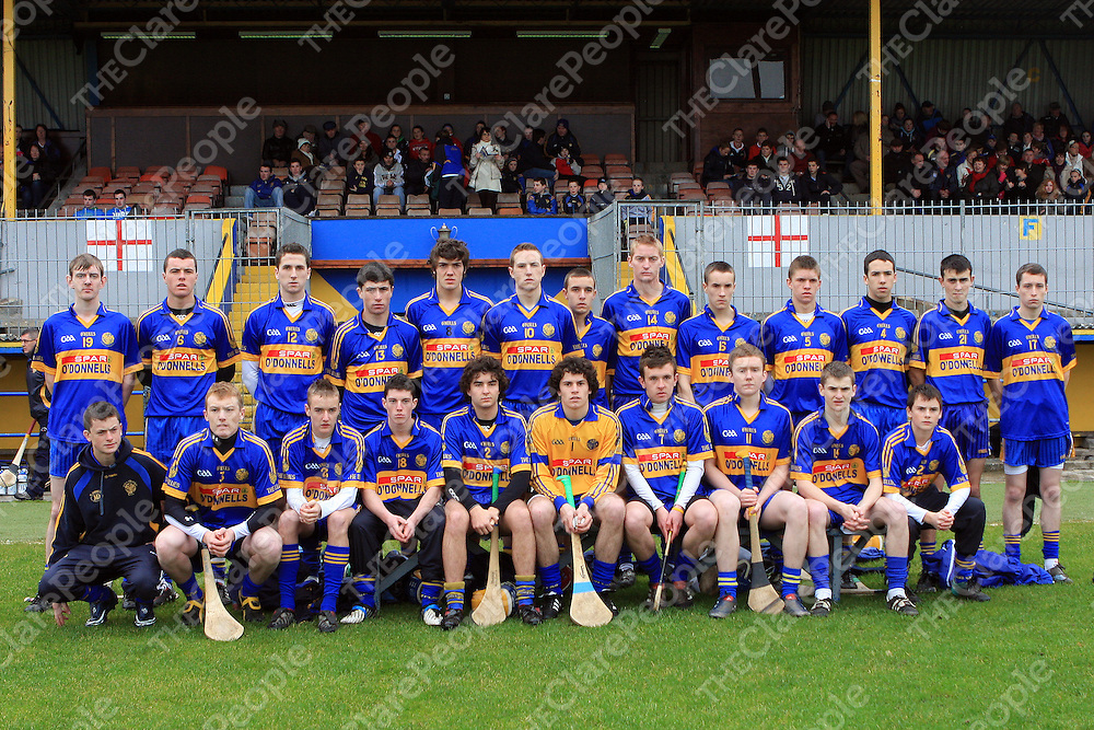 Newmarket team which lined out against Sixmilebridge in the Clare Minor A Hurling Final. - Photograph by Flann Howard