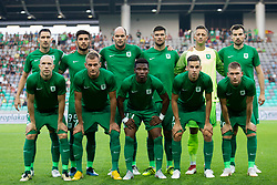 Players of NK Olimpija Ljubljana during 1st Leg football match between NK Olimpija Ljubljana and HJK Helsinki in 3rd Qualifying Round of UEFA Europa League 2018/19, on August 9, 2018 in SRC Stozice, Ljubljana, Slovenia. Photo by Urban Urbanc / Sportida