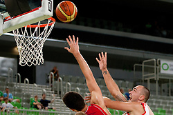 Damir Markota of Croatia during friendly basketball match between National teams of Croatia and Serbia of Adecco Ex-Yu Cup 2012 as part of exhibition games 2012, on August 3rd, 2012, in Arena Stozice, Ljubljana, Slovenia. (Photo by Urban Urbanc / Sportida)
