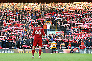 Liverpool defender Trent Alexander-Arnold (66) during the Premier League match between Liverpool and Brighton and Hove Albion at Anfield, Liverpool, England on 30 November 2019.