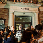 July 24, 2013 - New York, NY : French-Canadian pianist Marc-Andre Hamelin (center left) is mobbed by concertgoers as he leaves Mannes College after his International Keyboard Festival Master Series performance at Mannes College of Music in Manhattan on Wednesday evening. CREDIT: Karsten Moran for The New York Times
