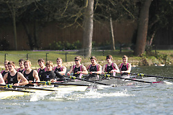 2012.02.25 Reading University Head 2012. The River Thames. Division 1. Abingdon School Boat Club J18A 8+